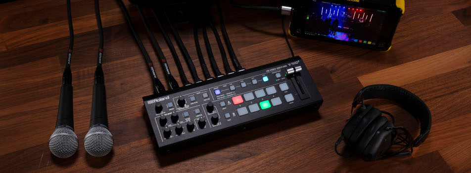 ROLAND annuncia il video switcher HD V-1HD+ E UVC-01 video capture